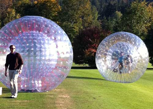 Zorbing in Garmisch